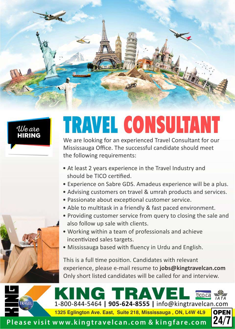 Travel Agent Jobs Toronto Mississauga Lifehacked1st Com